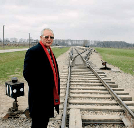 Professor Dajani at the Auschwitz concentration camp