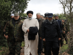 Ebrahim Raisi toured the Lebanese-Israeli border on January 30, 2018.
