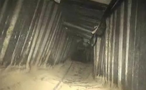 Hamas Terror tunnel underneath Kerem Shalom Crossing