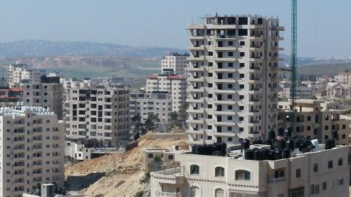 Multi-story buildings in Kafr Akab.
