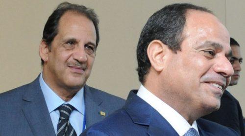 General Abbas Kamal with Abdel Fattah Al-Sisi