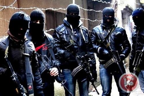Militia inside Nablus, 2016