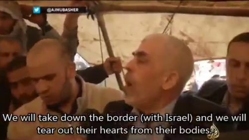 Hamas leader, terrorist Yihya Sinwar, said on Friday at the Gaza-Israel border