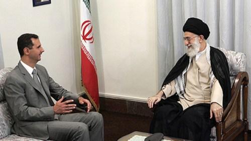 Syrian President Bashar Assad and Iran's Supreme Leader Khamenei