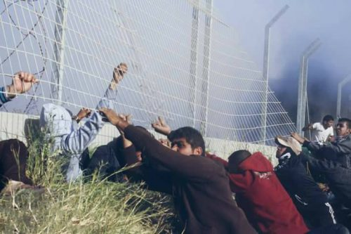 Gazans attempted to pull down the Gaza border fence with Israel.