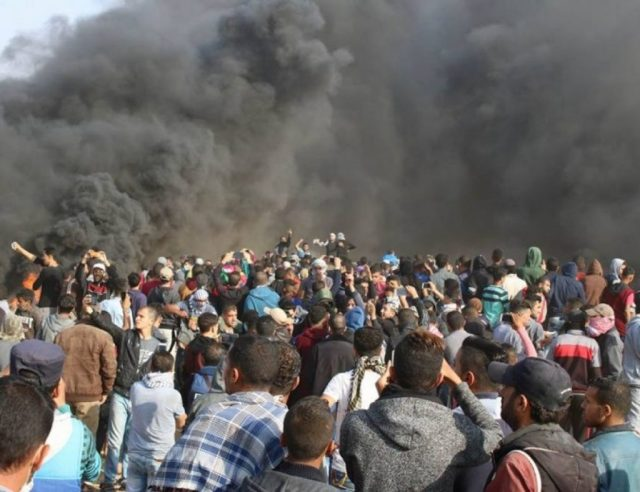 The Gazans' assault on Israel's fence, April 27, 2018