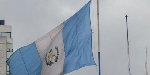 Guatemala's flag was raised at its new embassy location in Jerusalem