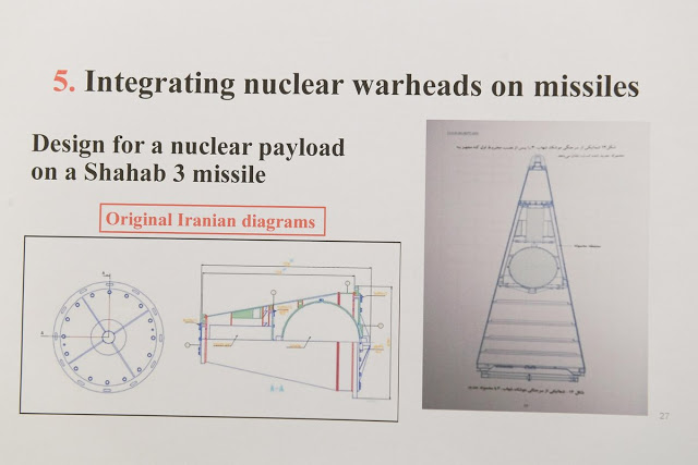 Iranian diagram for a nuclear warhead from the Iranian archives files.