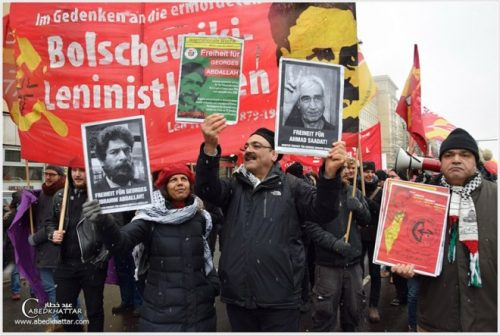 PFLP, Rosa Luxemburg Memorial Day, Berlin