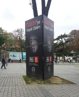 An outdoor sign in Antalya, Turkey