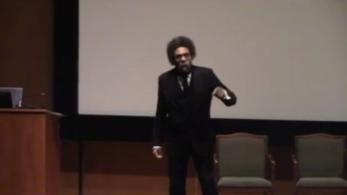 West speaking at Princeton University