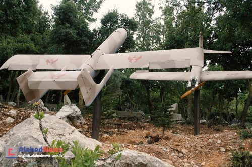 Hizbullah's Ababil drone on display in Mleeta