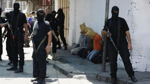 Hamas prepares to execute suspected collaborators in 2014.