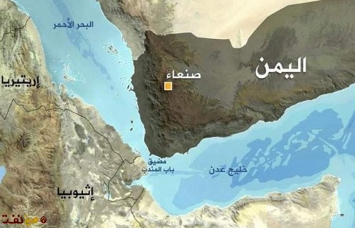 Iranian map of Yemen and Bab el Mandeb