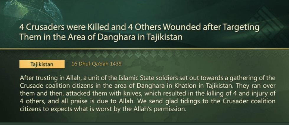 Iran Targets Tajikistan  Its Proxies Are Islamic Terrorists