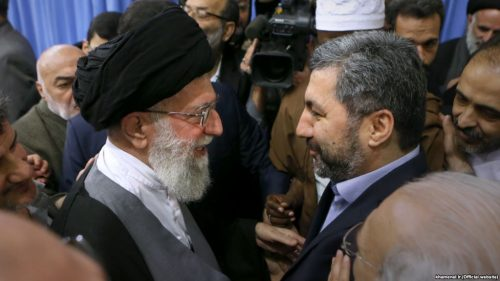 Ali Khamenei meeting with Muhiddin Kabiri