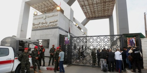 Rafah crossing between Egypt and Gaza