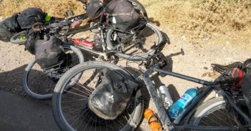 The terrorist victims' bicycles