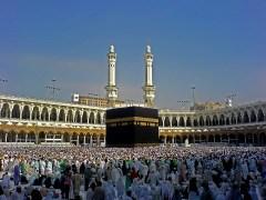 Muslim pilgrims during the Haj to Mecca.