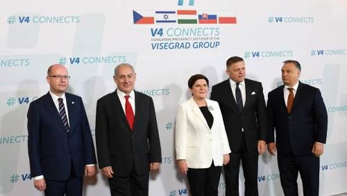 Netanyahu met leaders of the Visegrad Group