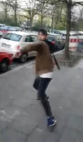 An attack by an Arabic-speaker on kippa-wearing Israelis in Berlin