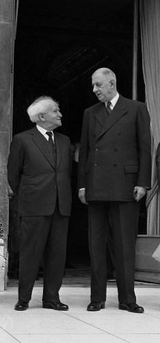 David Ben Gurion amd Charles de Gaulle