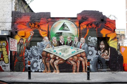 Mural on a London Street