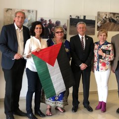 Mustafa Barghouti with Socialist Members of European Parliment.