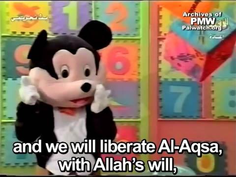"""""""Farfour"""" the mouse on Al-Aqsa TV."""