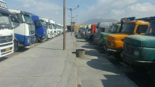 Truck drivers' strike