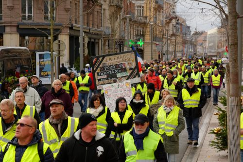 """Yellow vest"" demonstrations in Belfort, France"