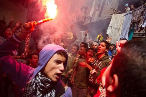 Muslim Brotherhood supporters demonstrate in Cairo in 2015