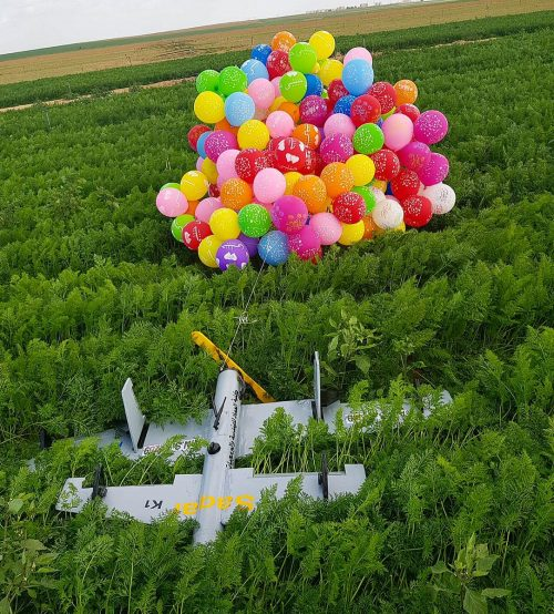 The drone-like craft landed in an Israeli field on January 6, 2019.