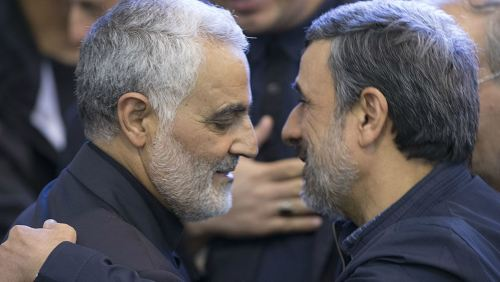 Ahmadinejad with Gen. Soleimani