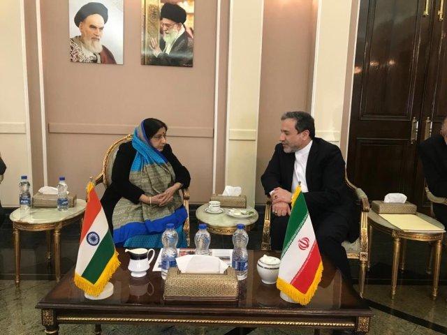 Sushma Swaraj with Seyed Abbas Aragchchi