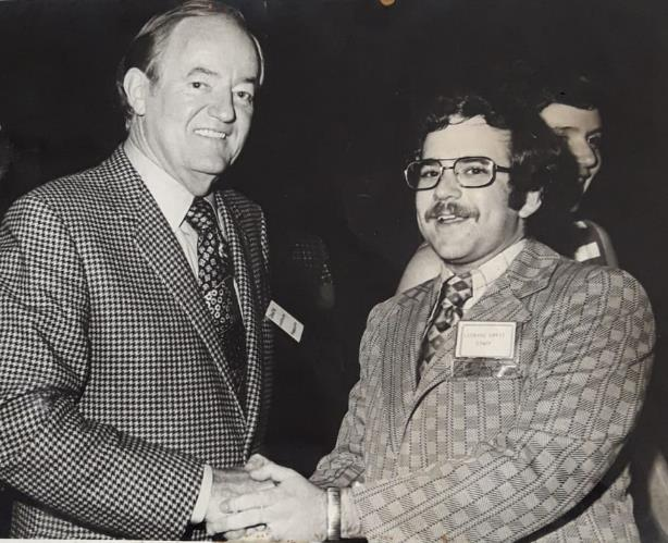 Lenny Ben-David with Hubert Humphrey