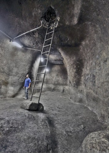 The underground reservoir dating back to the First Temple in Jerusalem
