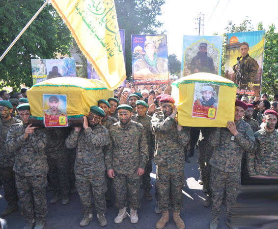 Hizbullah funerals after the battle for Zabdani, 2015
