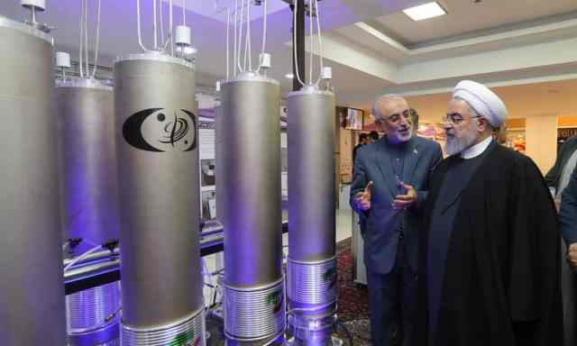 Ali Akbar Salehi and Hassan Rouhani