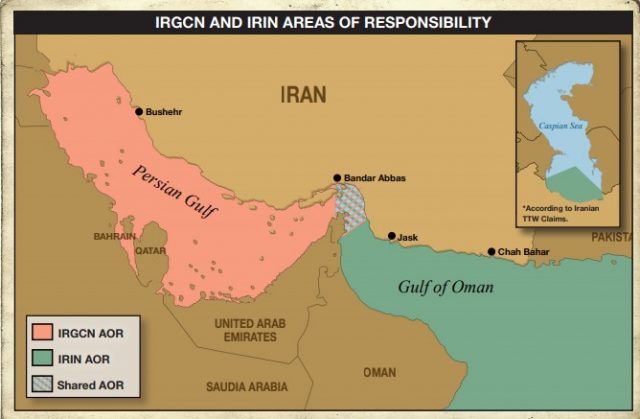 IRGCN and IRIN Areas of Responsibility