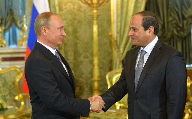 Vladimir Putin with Abdel Fattah el-Sisi