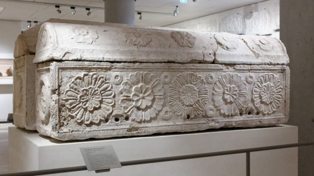 The royal sarcophagi, looted from the Tomb of the Kings and displayed in the Louvre
