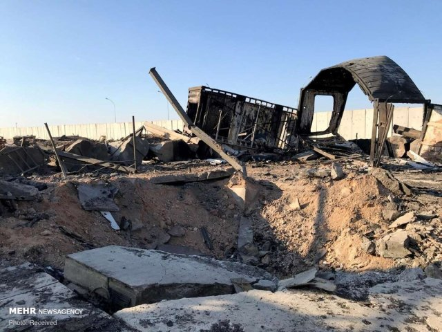 Aftermath of the Iranian attack on the Ain al-Asad airbase in Iraq