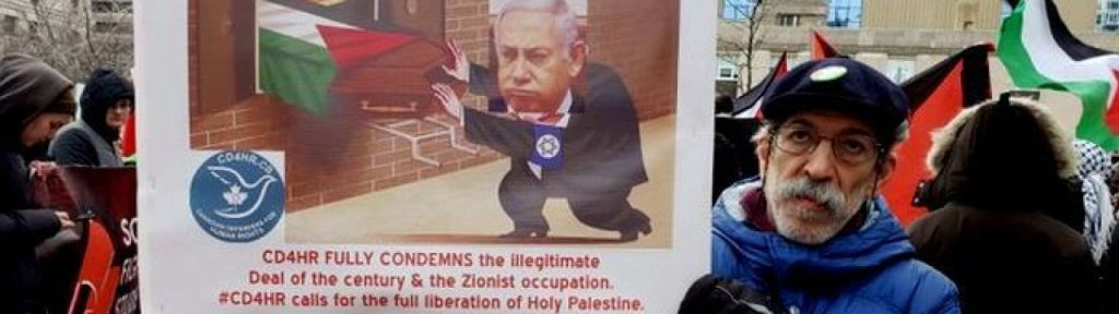 Controversial Cartoon displayed in Toronto protest