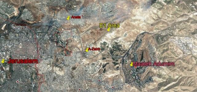 E-1 area map