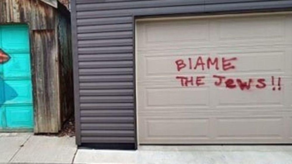 """Blame the Jews"" graffiti found in downtown Toronto"
