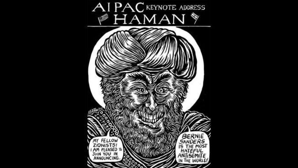 "Sheryl Nestel calls cartoon likening AIPAC to evil Haman ""unvarnished truth"""