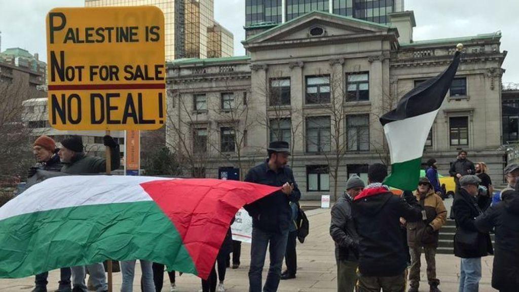"Vancouver protest: ""No Israeli Annexation, Free Palestine"""