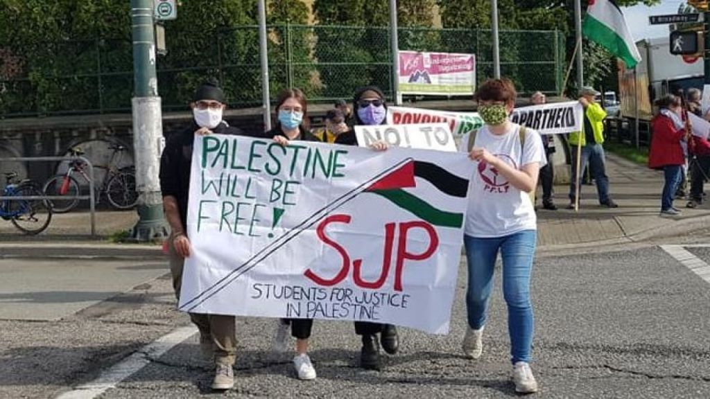 Activists affiliated with PFLP participated in anti-Israel protest in Vancouver