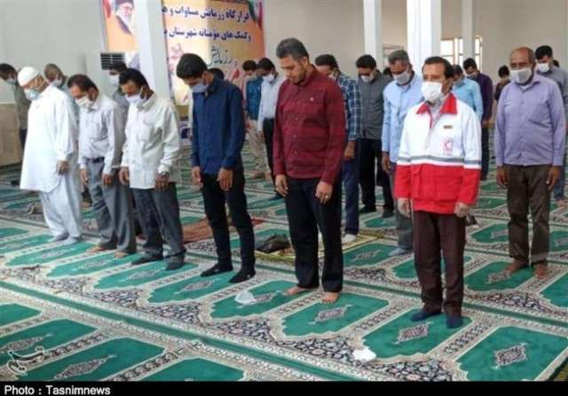 Friday prayers in an Iranian mosque.